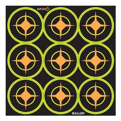 EZ See Aiming Dots, Adhesive, Black, 2-In., 12-Sheets