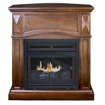 Belmont Gas Fireplace, Vent-Free, Vintage Cherry Finish, 20,000-BTU