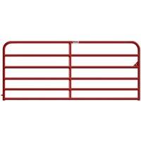 Heavy-Duty Gate, 6-Rail, Red, 8-Ft.
