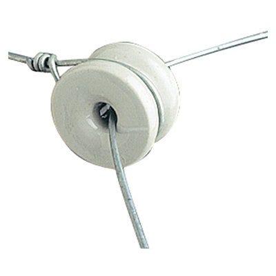 Electric Fence Insulator, Porcelain Doughnut, 1.5-In., 10-Pk.