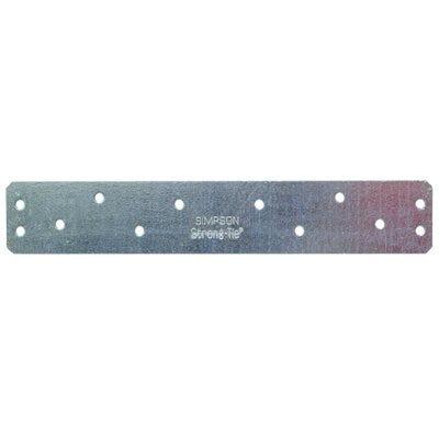 Heavy Duty Strap Connector, 12-Ga. Steel, 8-In.