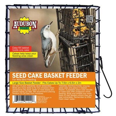 Image of Bird Seed Cake Cage, Vinyl-Coated Metal