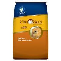 Pen Pals Chicken Starter Grower, Medicated, Crumble, 25-Lbs.