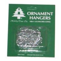 Ornament Hooks, Silver, 100-Ct.