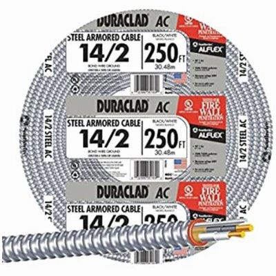 ACT Armored Cable, 14/2, 250-Ft.