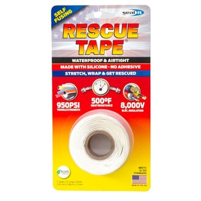 Image of Rescue Silicone Tape, Self-Fusing, White, 1-In. x 12-Ft.