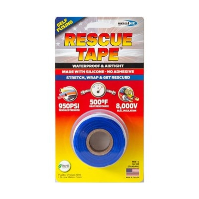 Image of Rescue Silicone Tape, Self-Fusing, Blue, 1-In. x 12-Ft.