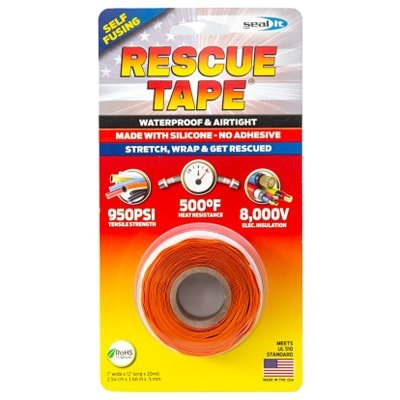 Image of Rescue Silicone Tape, Self-Fusing, Orange, 1-In. x 12-Ft.