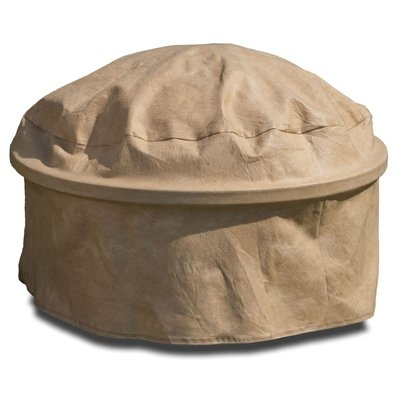 Image of Fire Pit Cover, Tan, 39-In.