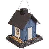 Blue Cottage Bird Feeder