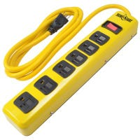 Metal Power Strip, 6-Outlet