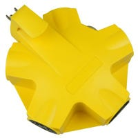 5-Outlet Adapter, Yellow