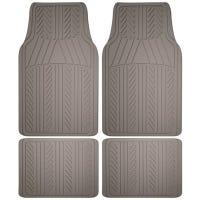 Auto Floor Mats, Gray Rubber, 4-Pc.