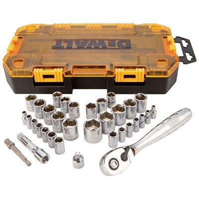 34-Pc. Socket Set, 1/4 & 3/8-In. Drive