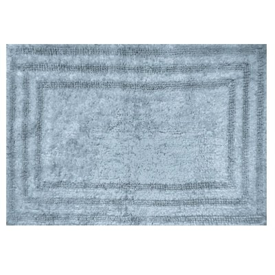 Image of Bath Rug, Spa Blue Cotton, 21 x 32-In.