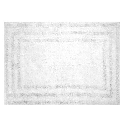 Image of Bath Rug, White Cotton, 21 x 32-In.
