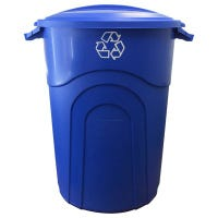 Recycle Trash Can, Blue, 32-Gallon