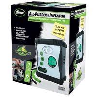 Cordless Tire Inflator + Gauge, LED Light, Automatic Shut Off, 12-Volt
