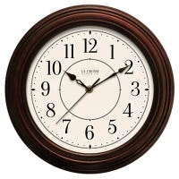 Faux Wood Wall Clock, 12-In.