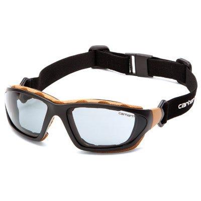 Carthage Safety Glasses, Gray Lens/Black & Tan Frame
