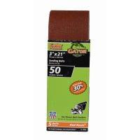 Sanding Belt, Aluminum Oxide, 50-Grit, 3 x 21-In., 5-Pk.