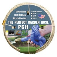 Kink-Proof Garden Hose, Extra Flexible, Ultra Lightweight, Beige, 5/8-In. x 50-Ft.