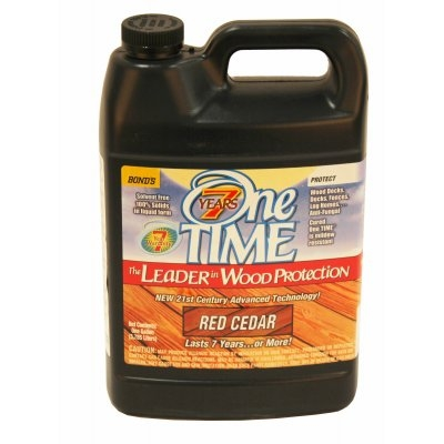 Image of Wood Preservative Stain & Sealer, Red Cedar Finish, 1 Gallon
