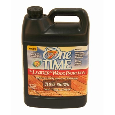 Image of Wood Preservative Stain & Sealer, Clove Brown Finish, 1 Gallon