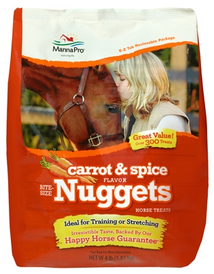 Image of Carrot & Spice Nugget Bite Size Horse Treat, 4-Lb.