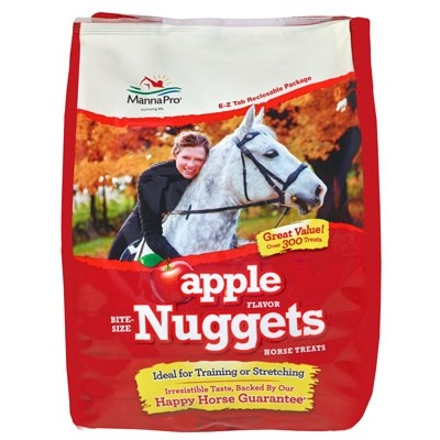 Image of Apple Nugget Bite Size Horse Treats, 4-Lb.
