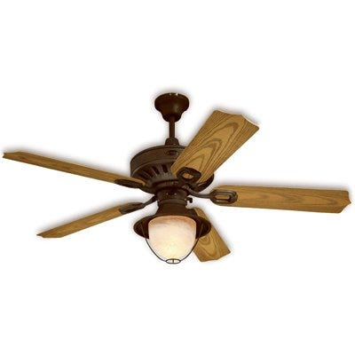 Ceiling Fan, Weathered Iron Finish, 52-In.