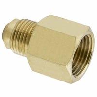 Brass Adapter, 1/2 Female Flare x 3/8-In. Male Flare