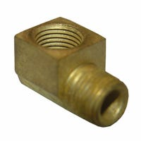Pipe Fitting, 90-Degree Street Elbow, Lead-Free Brass, 1/4 MIP x 1/4-In.FPT