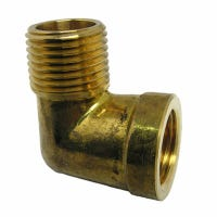 Pipe Fitting, 90-Degree Street Elbow, Lead-Free Brass, 1/2 MIP x 1/2-In.FPT