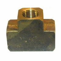 Pipe Fitting, Brass Tee, Lead-Free, 1/4-In. FPT