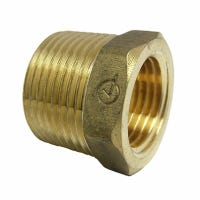 Pipe Fitting, Reducing Hex Bushing, Lead-Free Brass, 3/4 Male x 1/2-In. FPT