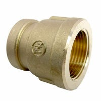 Pipe Fitting, Reducing Hex Bushing, Lead-Free Brass, 3/4 Female x 1/2-In. FPT