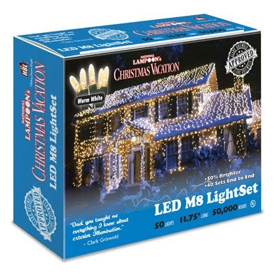 LED Light Set, Commercial Grade, Warm White M8, 50-Ct., Griswold Approved