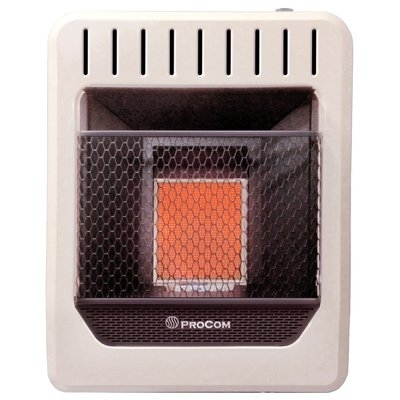 Image of Infrared Wall Heater, Dual Fuel, Vent-Free, 10,000-BTU