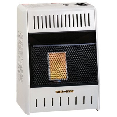 Image of Infrared Wall Heater, LP Gas, Vent-Free, 6,000-BTU
