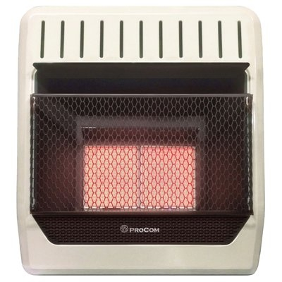 Image of Infrared Wall Heater, LP Gas, Vent-Free, 10,000-BTU
