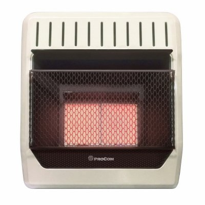 Image of Infrared Wall Heater, Natural Gas, Vent-Free, 20,000-BTU