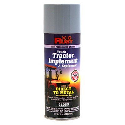 Rust-Preventative Enamel, Paint & Primer for Metal, Truck, Tractor, Implement & Equipment, Ford Light Gray, 12 oz. Spray