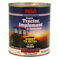 Rust-Preventative Paint & Primer, Direct to Metal, Truck, Tractor, Implement & Equipment, Ford Red, 1-Qt.