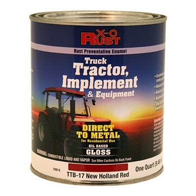 Rust-Preventative Paint & Primer, Direct to Metal, Truck, Tractor, Implement & Equipment, New Holland Red, 1-Qt.