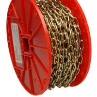 Brass Decor Chain, 60-Ft.