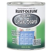 Specialty Chalkboard Latex Paint, Brush-On, Clear, 30-oz.