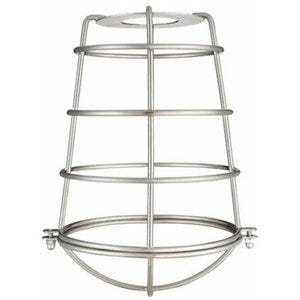 Cage Lamp Shade, Brushed Nickel, 8-In.