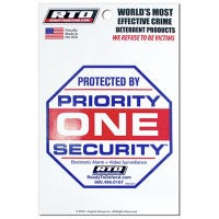 Home Security Window Decal, Priority One Home Security