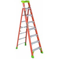 2-In-1 Cross Step Ladder, Fiberglass, Type 1A, 8-Ft.
